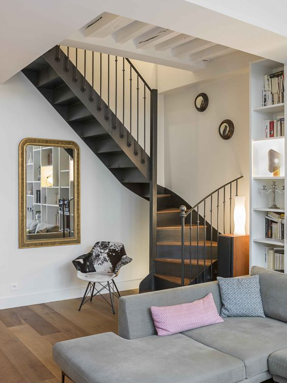 Apartment, interior by Marie Alfroid Architecture, Paris, France. Photo : Kristen Pelou